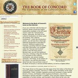Welcome to the Book of Concord