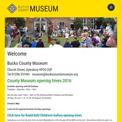 Welcome – Bucks County Museum