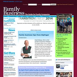 Welcome to Family Business Magazine!