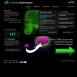 Welcome - Cambridge Brain Sciences