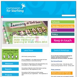 Welcome to the Campaign for Learning's website!