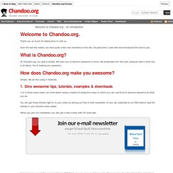 Welcome to Chandoo.org - A short introduction to our site