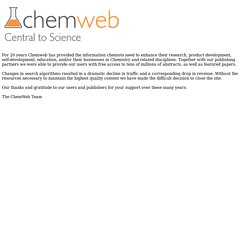 Welcome to ChemWeb
