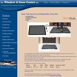 Door Mats At The Window & Door Centre Inc.