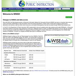 sconsin Information Network for Successful Schools - WINSS home page
