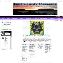 Welcome to Lake County Magazine! The Voice of the People, by the People.