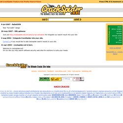 Welcome to Crackspider.net! Search cracks, crackz, serial number