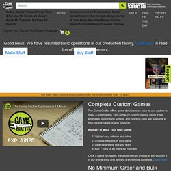 The Game Crafter - Custom board games and card games! The world leader in print-on-demand games.