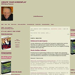 Screenwriting Resource Links