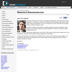 Welcome to Danscourses.com