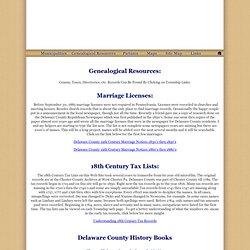 Delaware County History