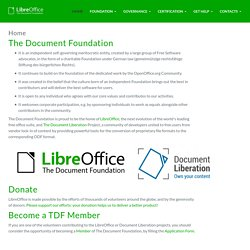 Welcome » The Document Foundation