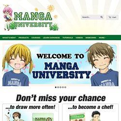 Welcome to Manga University — How to Draw Manga
