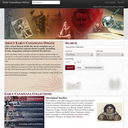 Welcome - Early Canadiana Online