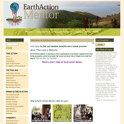 Welcome to EarthActionMentor - Earth Action Mentor