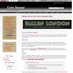 Welcome to the Echo Bazaar Wiki - Echo Bazaar