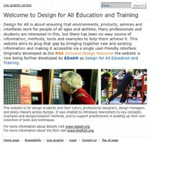 EDeAN - Design for All - Welcome to Design for All Education and Training