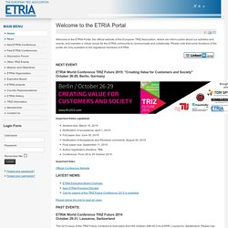 ETRIA: European TRIZ Association