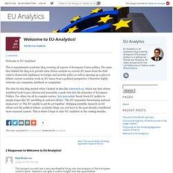 Welcome to EU-Analytics!
