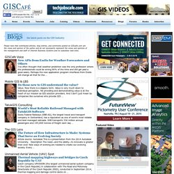 Welcome to GISCafe.com blogs main page