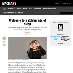 Welcome to a golden age of sleep