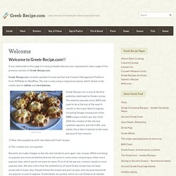 Ancient Greek recipes - Ancient greek food