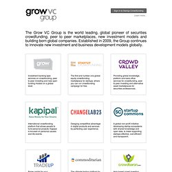 Grow Venture Community > Seed Funding Startups in The Virtual Silicon Valley