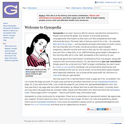 Welcome to Gynopedia - Gynopedia