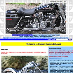 Welcome to Hacker Custom Exhaust at Other exhaust
