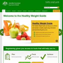 Welcome to the Healthy Weight Guide