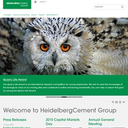 Welcome to HeidelbergCement Group