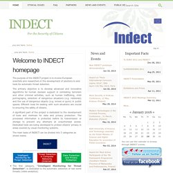 Welcome to INDECT homepage — indect-home
