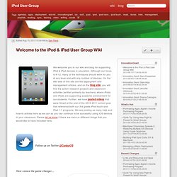 Welcome to the iPod & iPad User Group Wiki