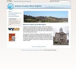 Welcome to Jackson County, West Virginia!