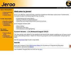 Welcome to Jeroo!