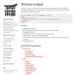 Welcome to Jinja2 — Jinja2 2.6dev documentation