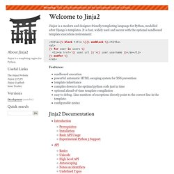 Welcome to Jinja2 — Jinja2 Documentation (2.8-dev)