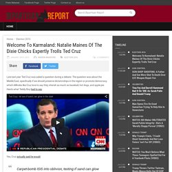 Welcome To Karmaland: Natalie Maines Of The Dixie Chicks Expertly Trolls Ted Cruz