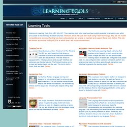 Welcome to Learning Tools