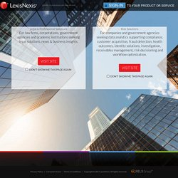 Welcome to LexisNexis - Choose Your Path