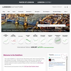 Welcome to the London Datastore | London DataStore