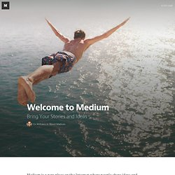 Welcome to Medium — About Medium