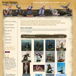 Welcome to Dark Sword Miniatures - Award Winning Fantasy Miniatures in Pewter