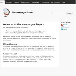Welcome to the Mnemosyne Project | The Mnemosyne Project