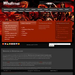 Welcome to Monstrous.com