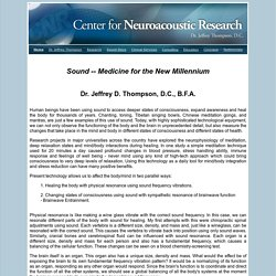 Welcome to the Center for Neuroacoustic Research!