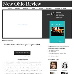 Welcome - New Ohio Review