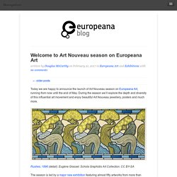 Welcome to Art Nouveau season on Europeana Art