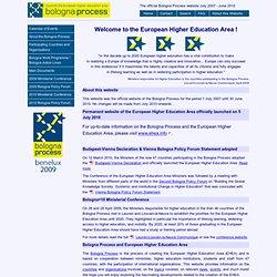 Site du processus de Bologne