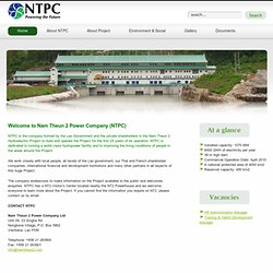 NTPC - Welcome to the website of the Nam Theun 2 Power Company